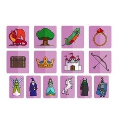 Fairy tale elements set vector image vector image