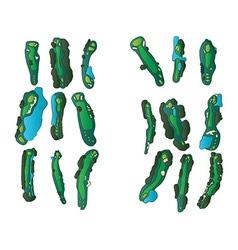 Golf holes vector