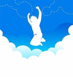 jumping high vector image
