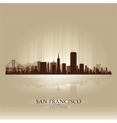 San Francisco California skyline city silhouette vector image vector image