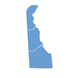 State Map of Delaware by counties vector image