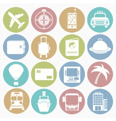 white icons travel vector image