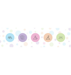 5 peak icons vector