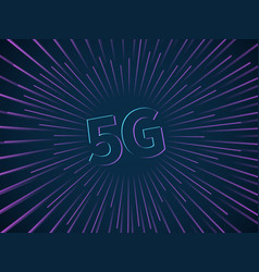 5g connection wireless data transmission vector image