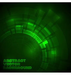 abstract dark green technical background vector image
