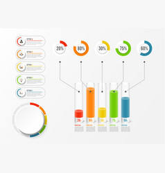 abstract elements graph infographic template vector image