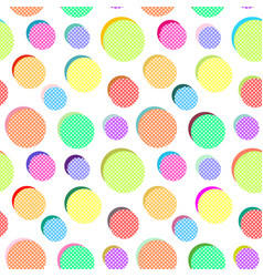 abstract pattern with colored balls vector image
