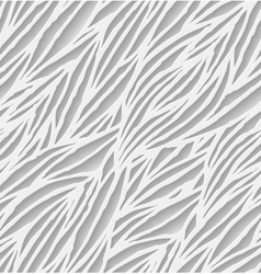 Abstract white hand-drawn waves seamless pattern vector
