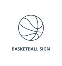 basketball sign line icon basketball sign vector image