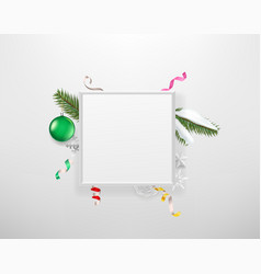 blank white frame with holiday accessories vector image