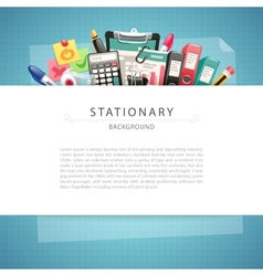 Blue stationary background with copy space vector
