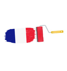 brush stroke with france national flag isolated on vector image