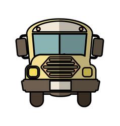 Bus school isolated icon vector