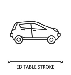car side view linear icon vector image