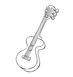 cartoon image of guitar vector image