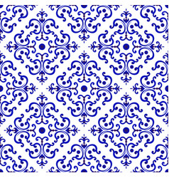 Ceramic tile pattern chinese style vector