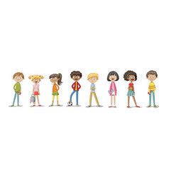 collection of some cute children vector image