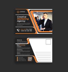 Corporate invitation postcards designs templates vector