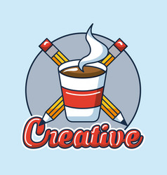 creative idea card vector image