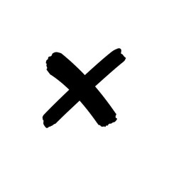 Cross sign or x mark icon no symbol vector