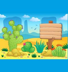 desert theme image 3 vector image
