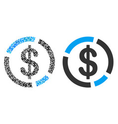 dollar diagram composition of dollars vector image