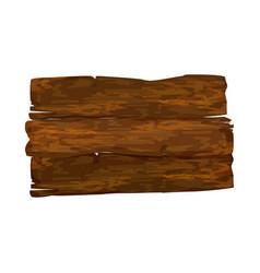 empty wooden signpost vector image