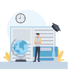 Flat education vector