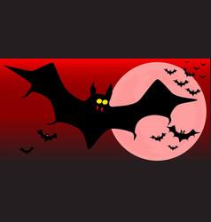 Flying vampire bats vector