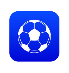 Football or soccer ball icon digital blue vector