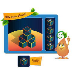 Game educational 8 blocks vector