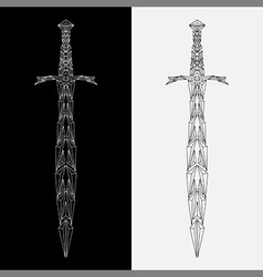 Geometric sword vector