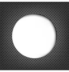 Grey Metal Background With Speech Bubble vector