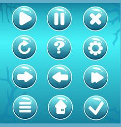 Gui asset nautical buttons vector