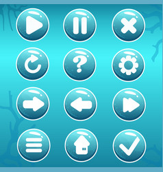 Gui asset of nautical buttons vector