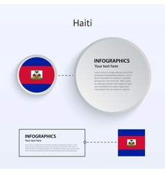 Haiti Country Set of Banners vector