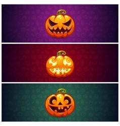 horizontal halloween banners background vector image