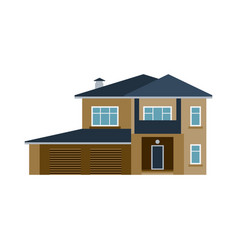 House front view building vector
