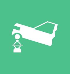 Icon car and crane vector