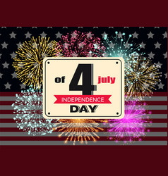 independence day 4th july greeting banner vector image