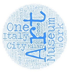 Italian travel guide text background wordcloud vector