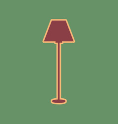 Lamp simple sign cordovan icon and mellow vector