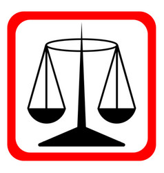 Law scale icon justice symbol modern simple vector