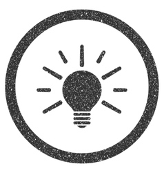 Light Bulb Icon Rubber Stamp vector