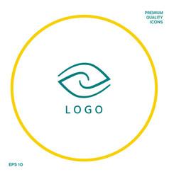 Logotype - two hemispheres of the brain two vector