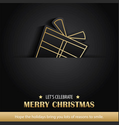 Merry christmas greeting card and party vector
