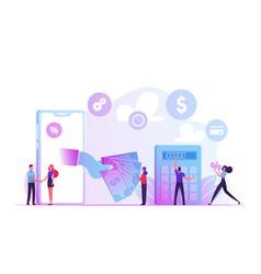 Micro credit finance organization service concept vector