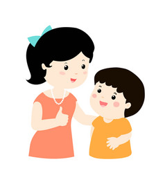 mother admire son character cartoon vector image
