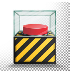 Panic button isolated red alarm shiny vector