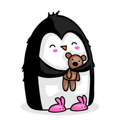 penguin getting ready for bead vector image
